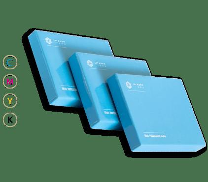 Pudełka niebieskie tektura kaszerowana