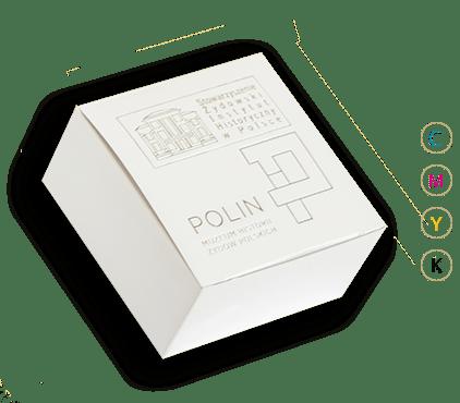 Pudełko białe z tektury litej