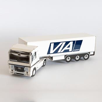 Pudełko na alkohol ciężarówka TIR