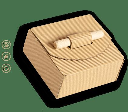 Pudełko tektura eco z kijkiem